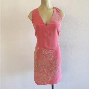 NWOT! Trina Turk Glitteratti Coral Dress sz 6!